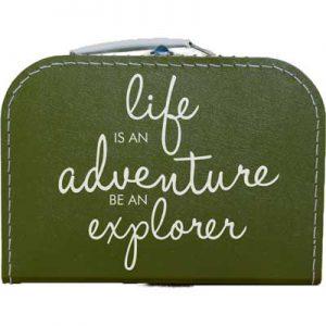 Life is an adventure. vakantiekoffer