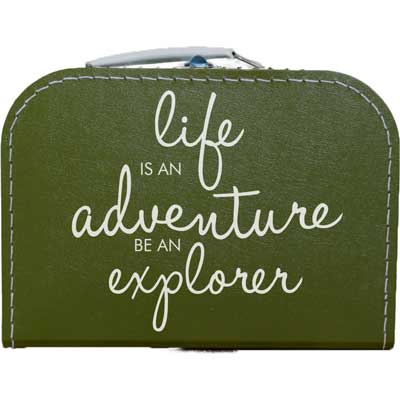 Life is an adventure. vakantiekoffer