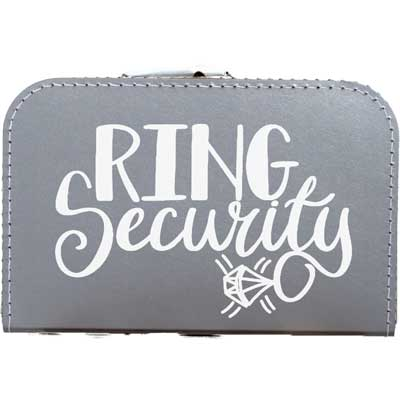 Koffer voor trouwringen -> ring security