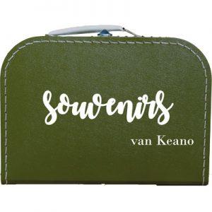 Souvenirkoffer gepersonaliseerd