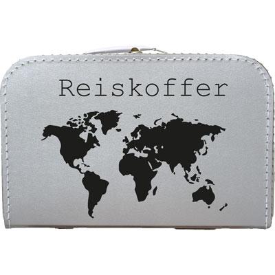 Reiskoffer met de kaart van europa